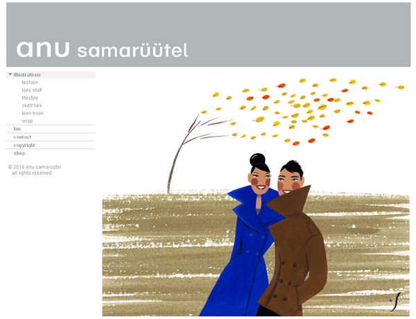anu samaruutel illustration website