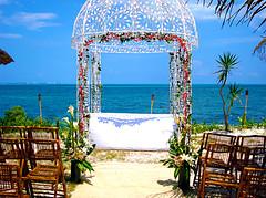 Montajes para Boda en la Playa (D'Francia Floreria) Tags: flores azul mar playa arena paraiso mexicano bodas caribe floreria