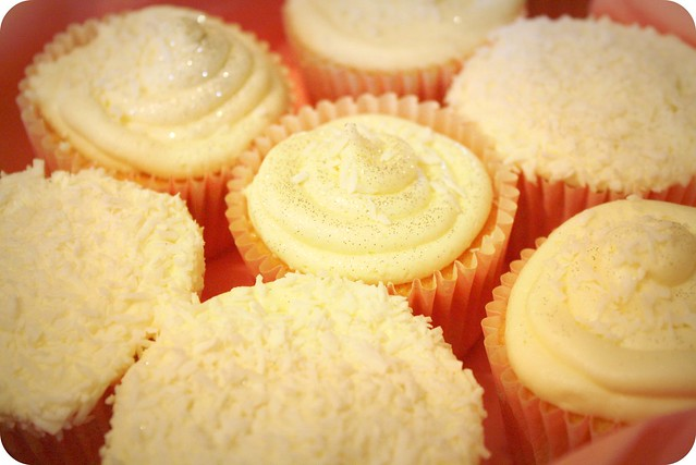 Pineapple and Coconut cupcakes.