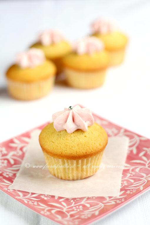 Pink vanilla cupcakes