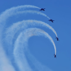 Blue Angels: Painting with smoke