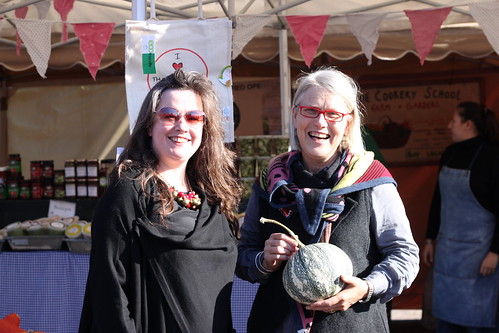 Darina Allen and I at Midleton Farmer's Market, Cork