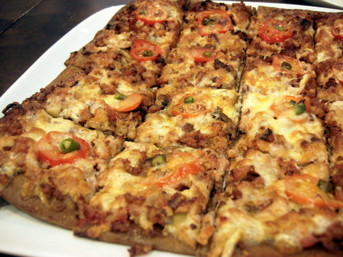 Brotzeit Mid valley - pork pizza