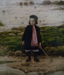 William Dyce, Pegwell Bay, Kent - a Recollection of October 5th 1858, detail of boy
