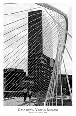 CALATRAVA VERSUS ISOZAKI (Eneko Garcia) Tags: puente arquitectura puerta bilbao calatrava bizkaia isozaki arquitectos gettyimagesspainq1 enekofoto