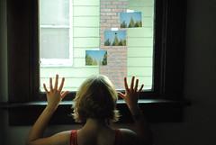 fly away (megan anne k) Tags: trees film window neck star hands shadows arms skin body grain blond bones teenager bracelets grainy shoulder