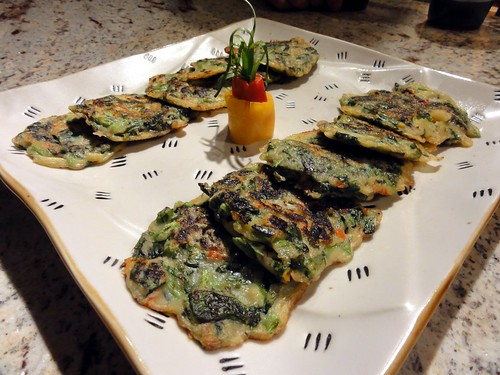 Korean Inspired Spinach Pancakes