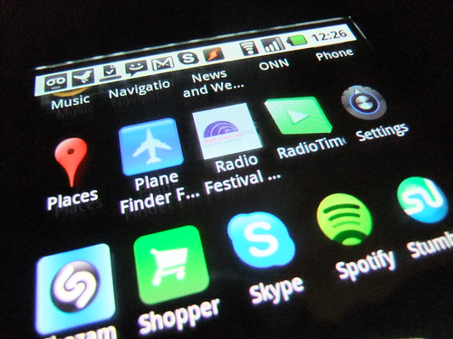Radio Festival app on Android