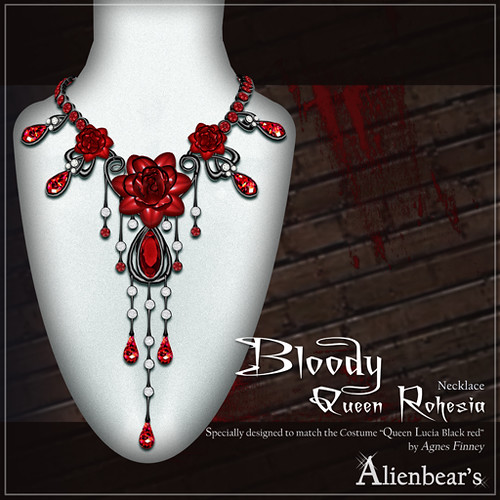 Bloody Queen Rohesia necklace (Dark red)