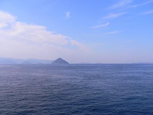 大槌島が見える