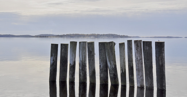 stolpar i havet