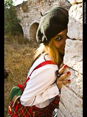Cronaca Nera - Crime news - II (Aleks_Kuntz) Tags: abandoned college girl set countryside blood campagna crime sangue ragazza crimine nikond60 luogoabbandonato