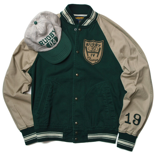 Rugby / Varsity Jacket , Cotton Jersey Rugby Cap