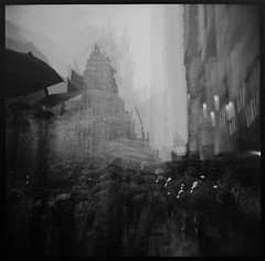 img215-72-H (See Attached) Tags: street nyc blackandwhite 120 6x6 film mediumformat holga 120n fujipro800z ultramultipleexposure