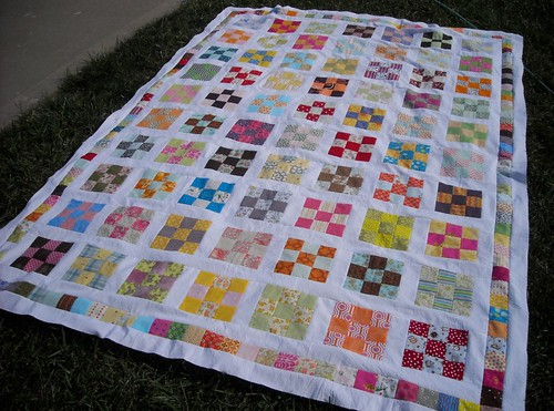 9-patch quilt top