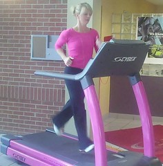 Stacy Pink Treadmill