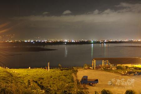 住海邊夜景