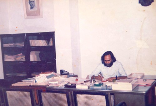 Prof Israr Agmad at his office