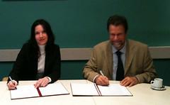 Bendradarbiavimo sutarties su VGTU pasirašymas