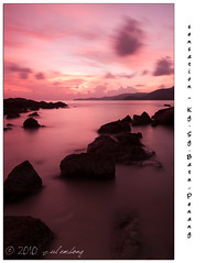 Lovely Penang (joe_cool75) Tags: sunset sky beach silhouette nikon rocks tokina1224 malaysia penang lovely batu pantai 2010 cokin d300s kgsgbatu