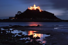 "Light on the Mount - St.Michael's Mount lit up for all to see. Glad I'm not paying the electricity bill, mind you in a way I am as I am a member of the the National Trust and the Mount is a Trust property!  Thanks everyone for all the recent and welcome comments on my pics.  Tony   Much better if you please <a href=""http://bighugelabs.com/onblack.php?id=5097046931&size=large"" rel=""nofollow"">View On Black</a>"