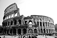 (niinamariaa) Tags: travel bw italy rome roma monument ancient ruins roman amphitheatre colosseum colosseo ancientrome travelphotography amphitheatrum