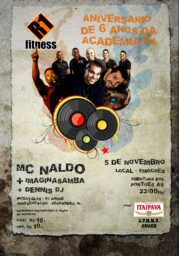 Aniversário de 6 anos da Academia R1 Fitness - Rocinha (05 de novembro de 2010)