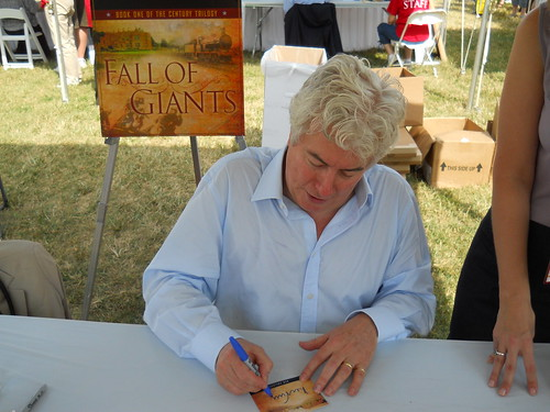 Ken Follett book fan photo