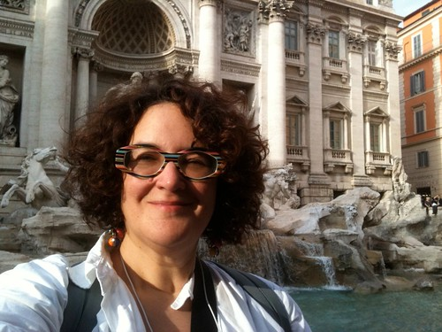 NK at the Trevi Fountain, 10/22/10