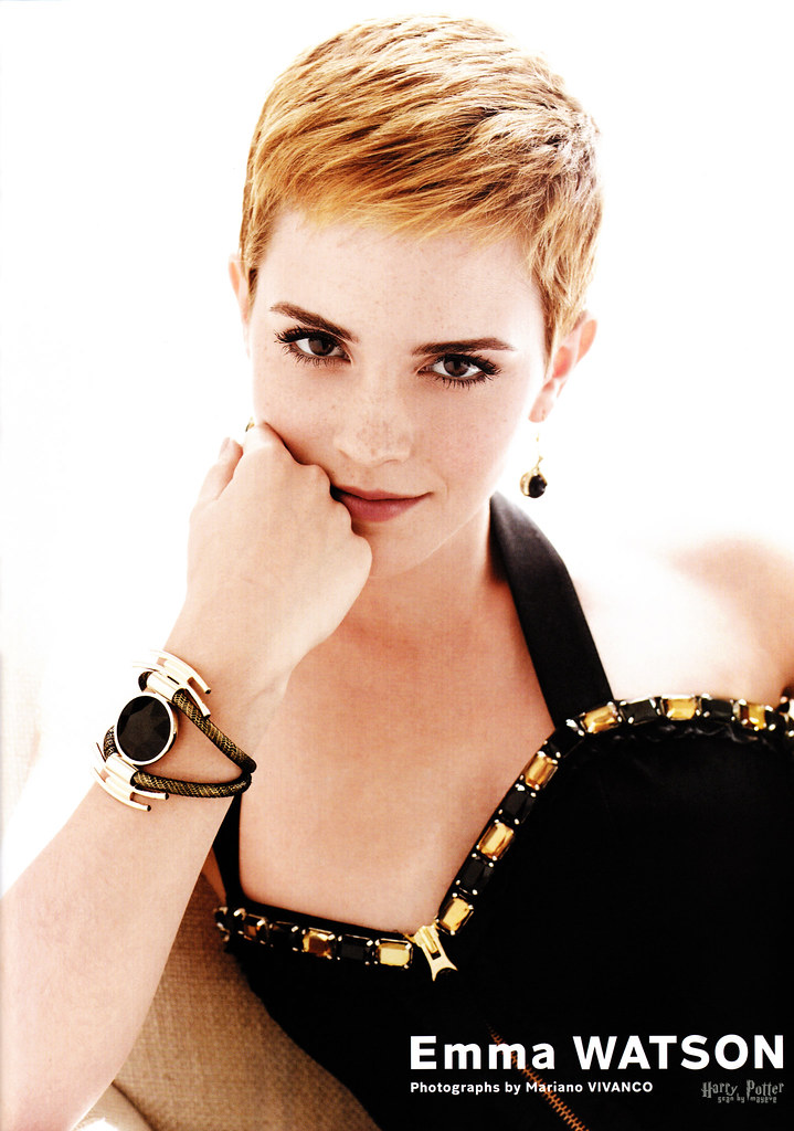Emma Watson short haircut Harry Potter