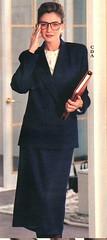 Talbots 7/89 Dark Blue Midi Suit with Glasses (BreakTime) Tags: classic glasses big perfect long dress good feminin