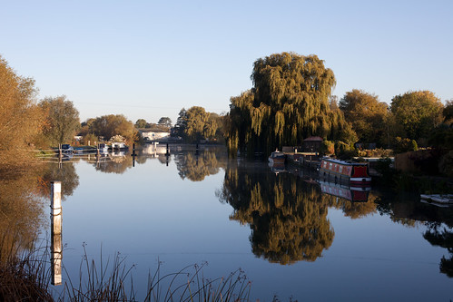Reflection in the Thames at Benson