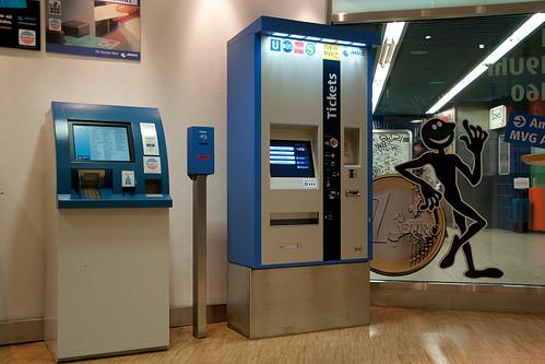 Der heute vorgestellte Ticketautomat im MVG-Kundenzentrum am Marienplatz