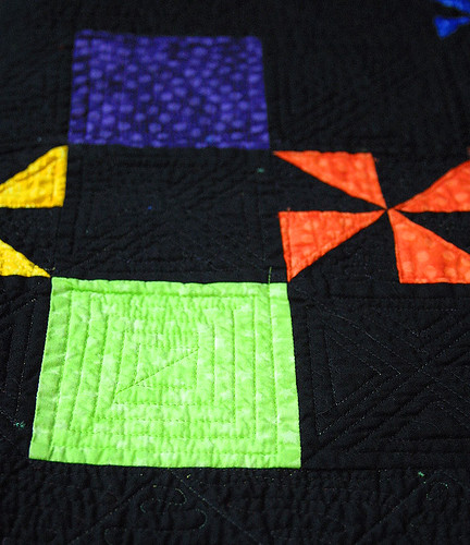 Pinwheel Party Quilt detail