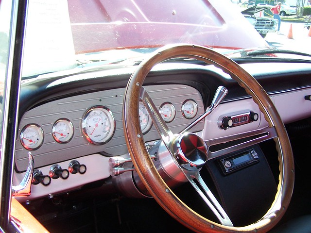 red ford f100 1966 dashboard