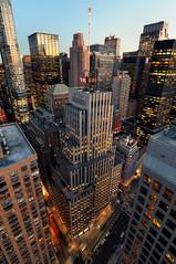Late Afternoon over Midtown Manhattan, New York City (andrew c mace) Tags: nyc newyorkcity roof newyork rooftop skyline cityscape manhattan broadway rockefellercenter wideangle tokina1224 midtown dreamhotel colorefex nikoncapturenx nikond90