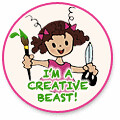 I'm a creative beast button