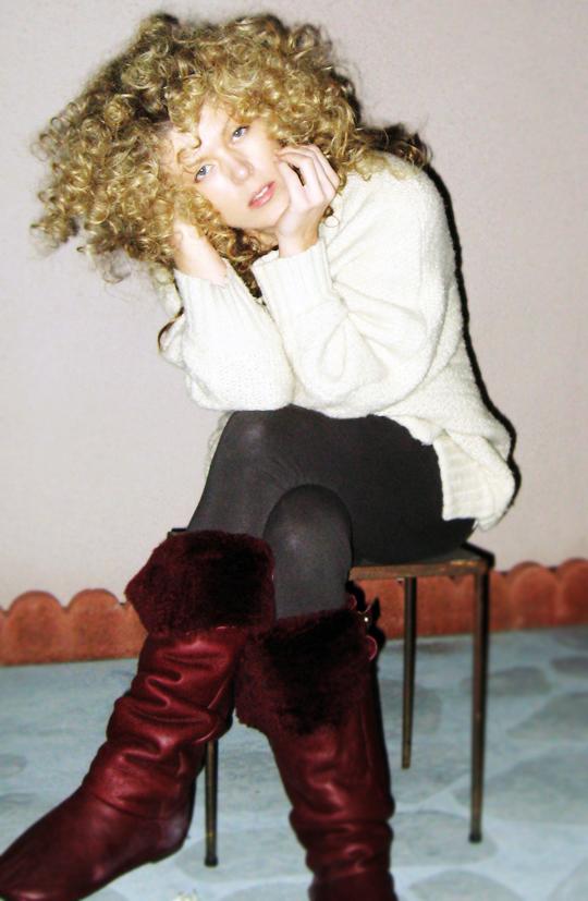 big blonde afro curls+og dark