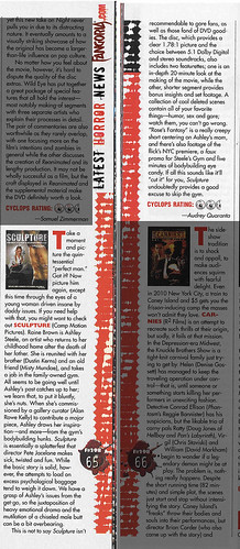 """Sculpture"" Fangoria Review"
