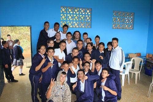 Visiting a school in Fenicia
