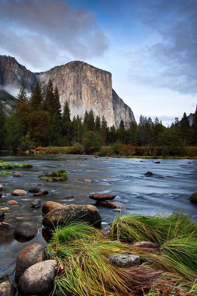 Evening light on El Capitan from Valley View, Yosemite National Park