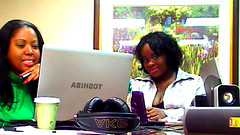 Female Rappers SHEE and Stalyon At Overnight Power Forward Music Marketing Meeting by SHEEmusic