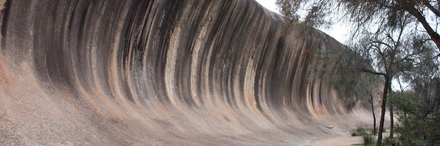 The aptly named 'Wave Rock' near Hyden in Western Australia.