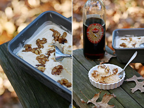 maple walnut diptych
