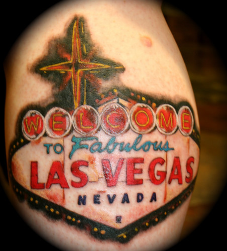 las vegas sign at night. Las Vegas Sign