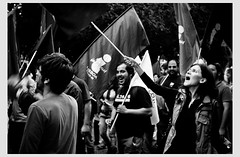 Lisbon, Portugal - Against austerity (Gerald Verdon) Tags: street leica bw copyright portugal europe lisboa lisbon rangefinder nb demonstration summicron m8 verdon lisbonne socialissues austerity cgtp allrightsreservedgraldverdon