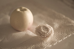 Una manzana (Marisa y Angel) Tags: stilllife apple nature fruit nikon soft manzana pastel fruta morte bodegn dreamy tabletop 2010 d300
