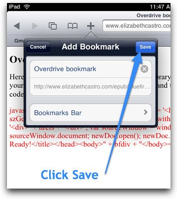 Save bookmark