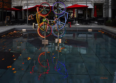 Berlin - Postdamer Platz - Hymn to the bicycle (G.hostbuster) Tags: berlin reflections lights bicycles luci riflessi ghostbuster berlino biciclette postdamerplatz gigi49