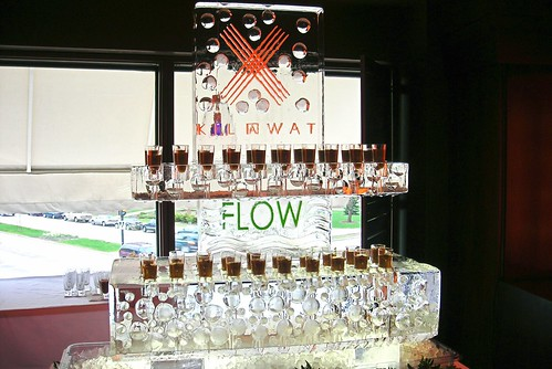 Kilawat Shotglass Display ice sculpture